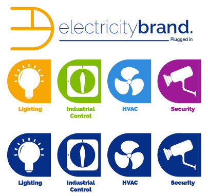 graphicdesign picto electricity brand