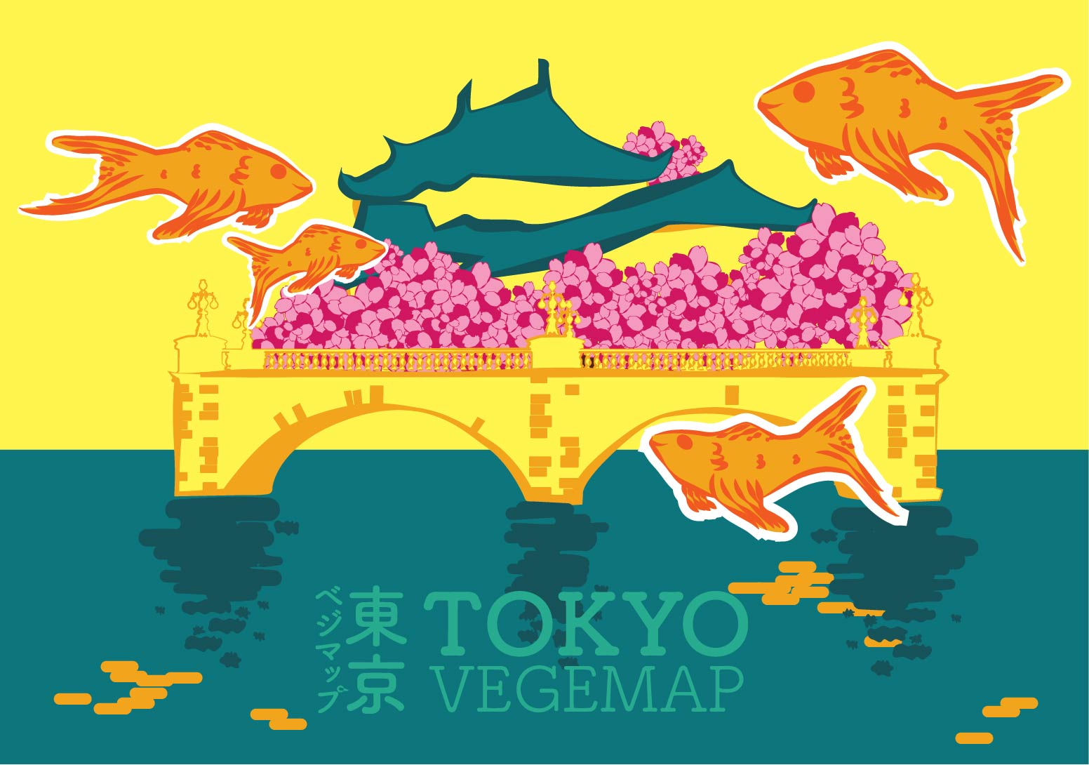 vegeproject map postcard chiyoda