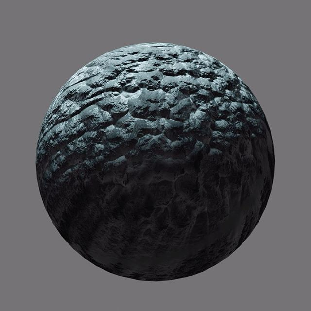 3d blender material shader node asteroid