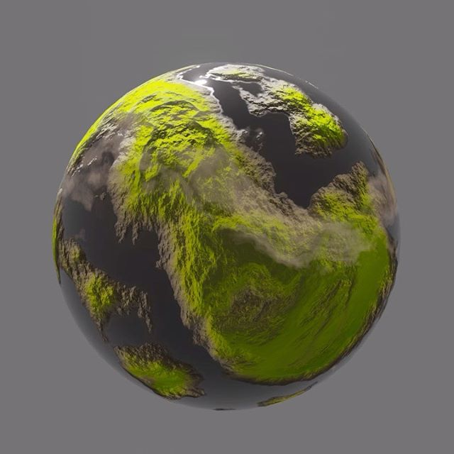 3d blender material shader node planet