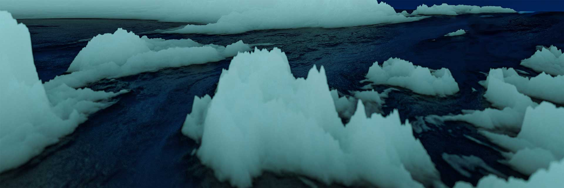 3d blender procedural landscape iceberg