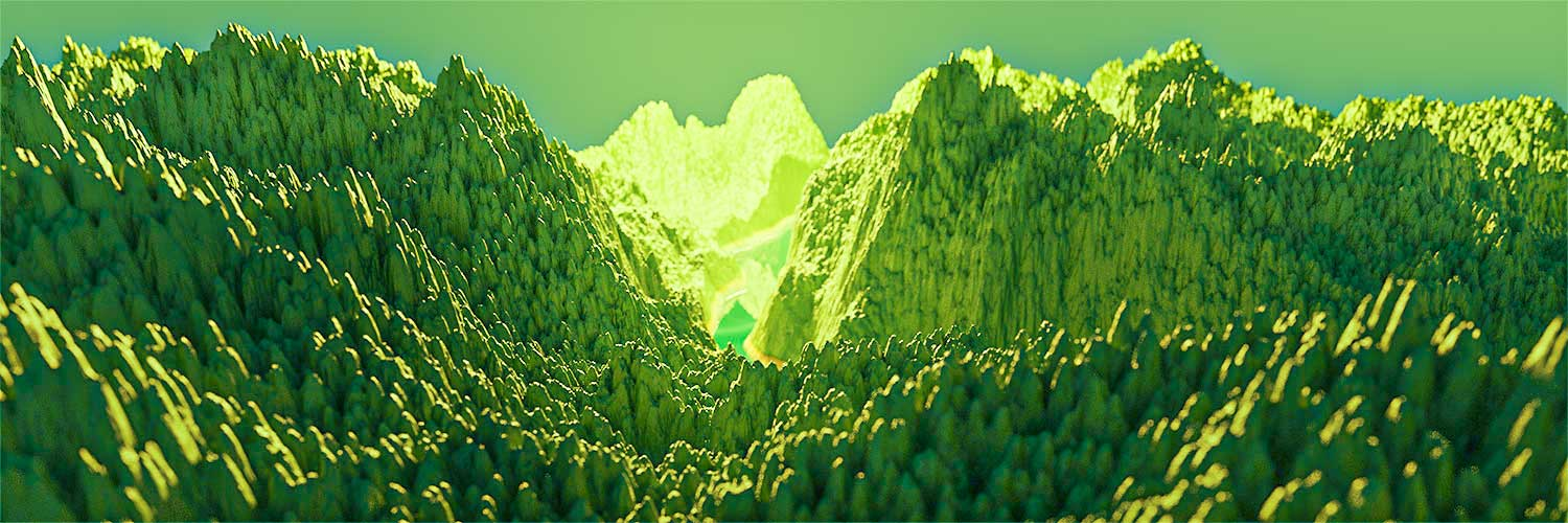 3d blender procedural landscape mountains